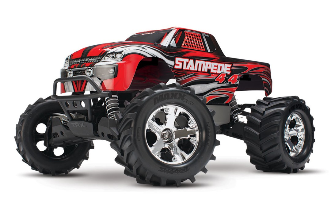 Traxxas Stampede 4X4 brushed Titan 12t motor and XL-5 ESC Red