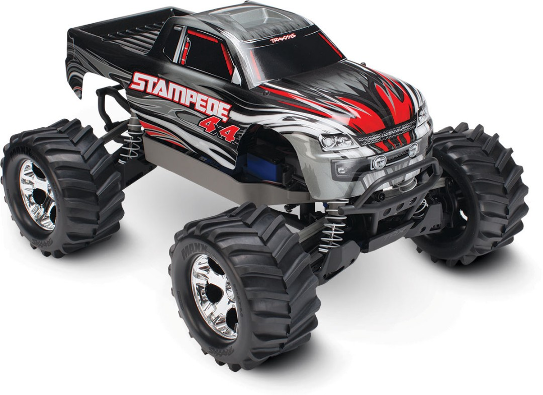 Traxxas Stampede 4X4 brushed Titan 12t motor and XL-5 ESC Silver