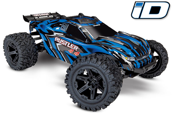 Traxxas Rustler 4X4 1/10 4WD StadiumTruck RTR - Blue - Click Image to Close