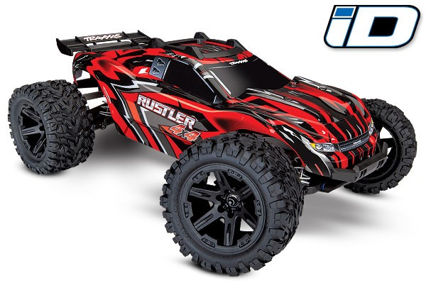Traxxas Rustler 4X4 1/10 4WD StadiumTruck RTR - Red - Click Image to Close