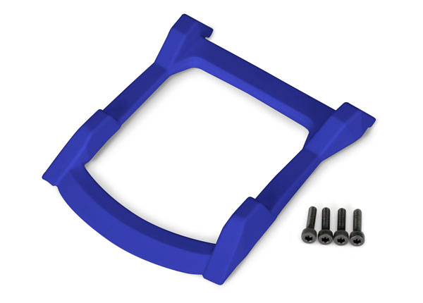 Traxxas Skid plate, roof (body) (blue)/ 3x12 CS (4)