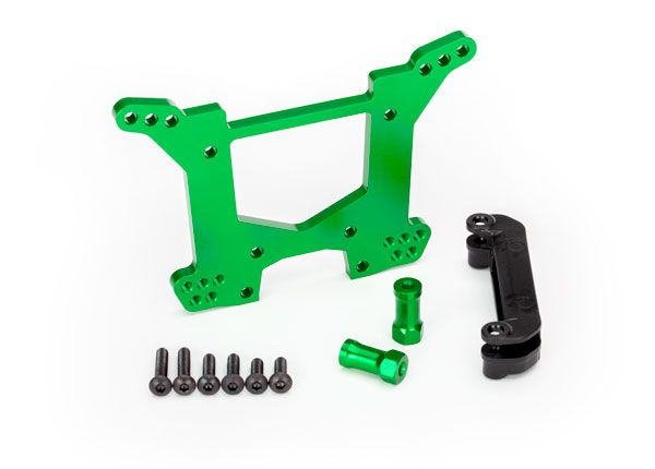Traxxas Shock tower, rear - green aluminum