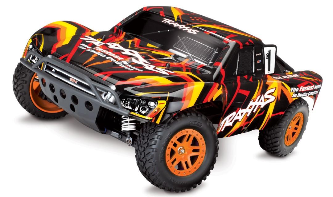 Traxxas Slash 4X4 1/10 4WD XL-5 RTR Short Course Truck Orange - Click Image to Close