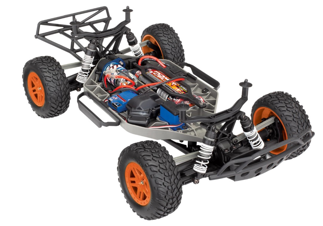 Traxxas Slash 4X4 1/10 4WD XL-5 RTR Short Course Truck Orange - Click Image to Close