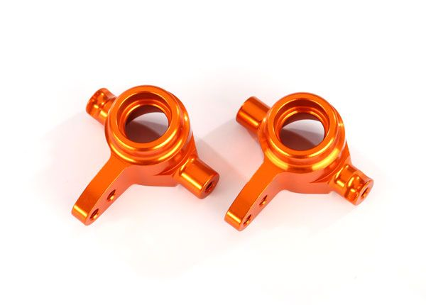 Traxxas Aluminum Steering Block Set (Orange) (2)