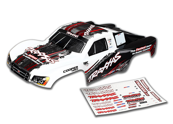 Traxxas Body, Slash 4x4, White (2014 Paint) (Painted, Decals App