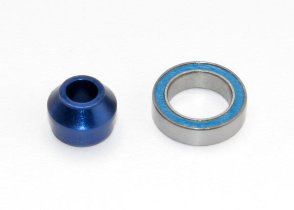 Traxxas Bearing adapter, 6160-T6 aluminum (blue-anodized) (1)