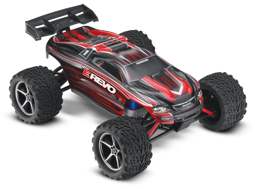 Traxxas E-Revo 1/16 4WD Brushed RTR Truck Red