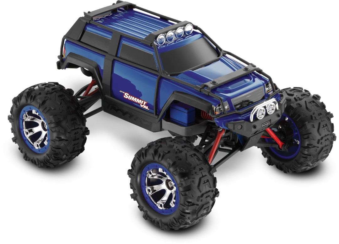 Summit VXL: 1/16-Scale 4WD Electric Extreme Terrain Blue