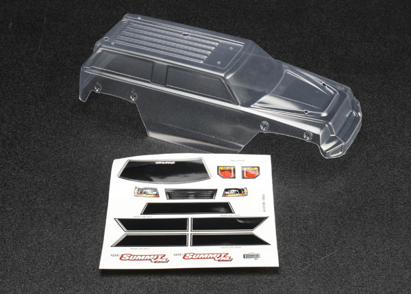 Traxxas 1/16 Summit Body w/Decal Sheet (Clear)