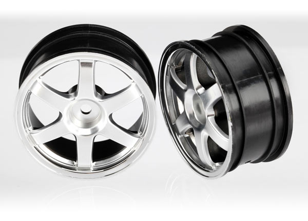 Traxxas Wheels, Volk Racing TE37 (Satin Chrome/Chrome) (2)