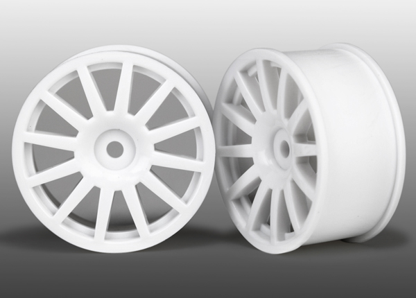 Traxxas LaTrax Tires Wheels, 12-spoke (white) (2)