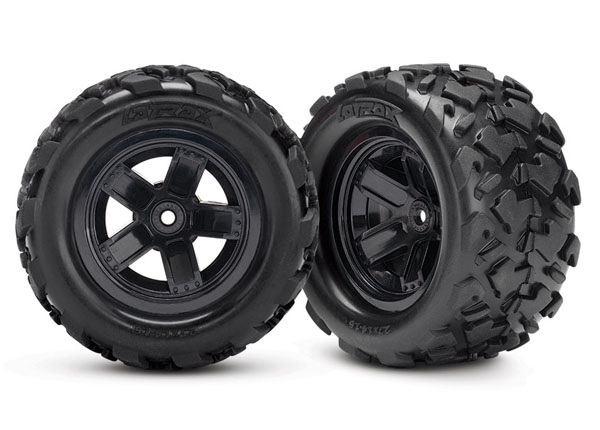Traxxas LaTrax Assembled Teton 5-Spoke Wheels & Tires (2)