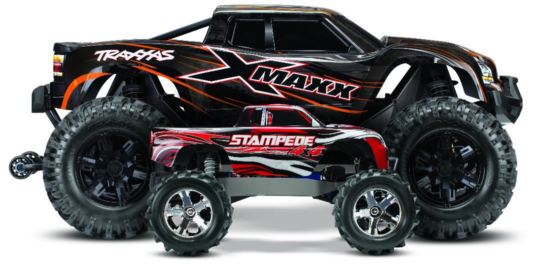 Traxxas X-Maxx 4WD Brushless RTR 8S Monster Truck - Orange - Click Image to Close