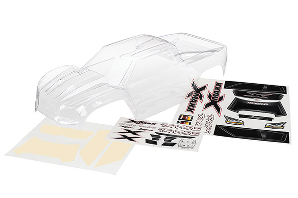 Traxxas Body, X-Maxx (clear, trimmed, requires painting)/ window