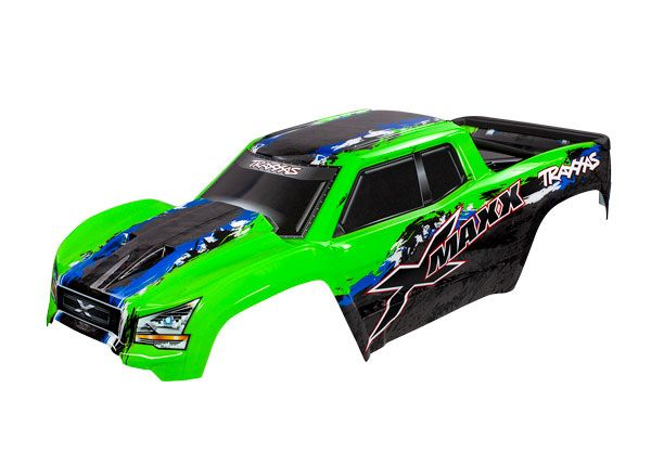Traxxas Body, X-Maxx, green (painted, decals applied) (assembled
