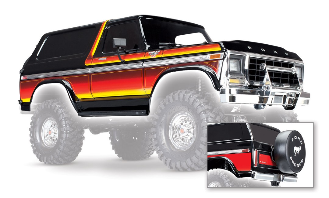 Traxxas Ford Bronco Painted Body - Click Image to Close