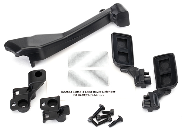 Traxxas Mirrors, side (left & right)/ snorkel/ mounting hardware