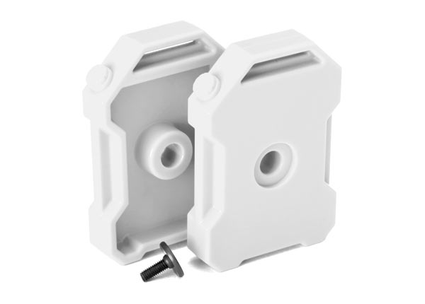 Traxxas Fuel Canisters (White) (2)/ Screw Pin