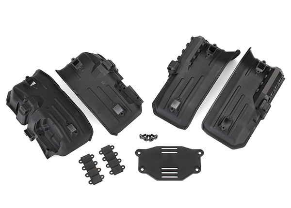 Traxxas Fenders, inner, front & rear (2 each)/ rock light covers