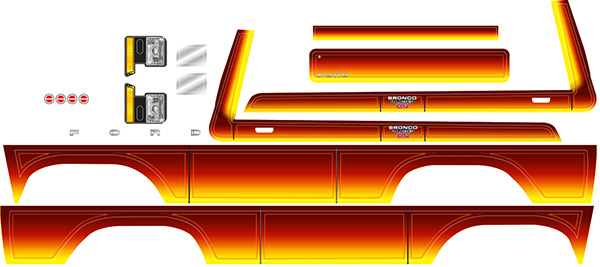 Traxxas Decal Sheet, Bronco, Sunset