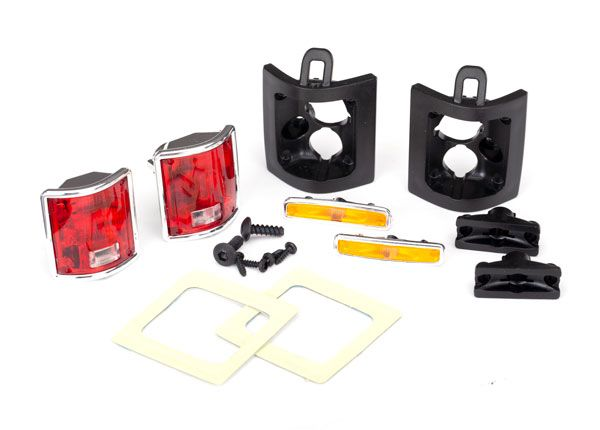 Traxxas Tail lights, left & right (assembled)/ tail light retain