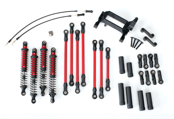 Traxxas Long Arm Lift Kit, TRX-4, complete (includes red powder