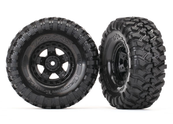 Traxxas Tires and wheels, assembled, glued (TRX-4 Sport wheels,