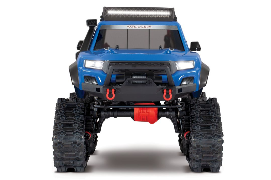 Traxxas TRX-4 with Traxx 1/10 4X4 Extreme-Terrain Truck - Blue - Click Image to Close