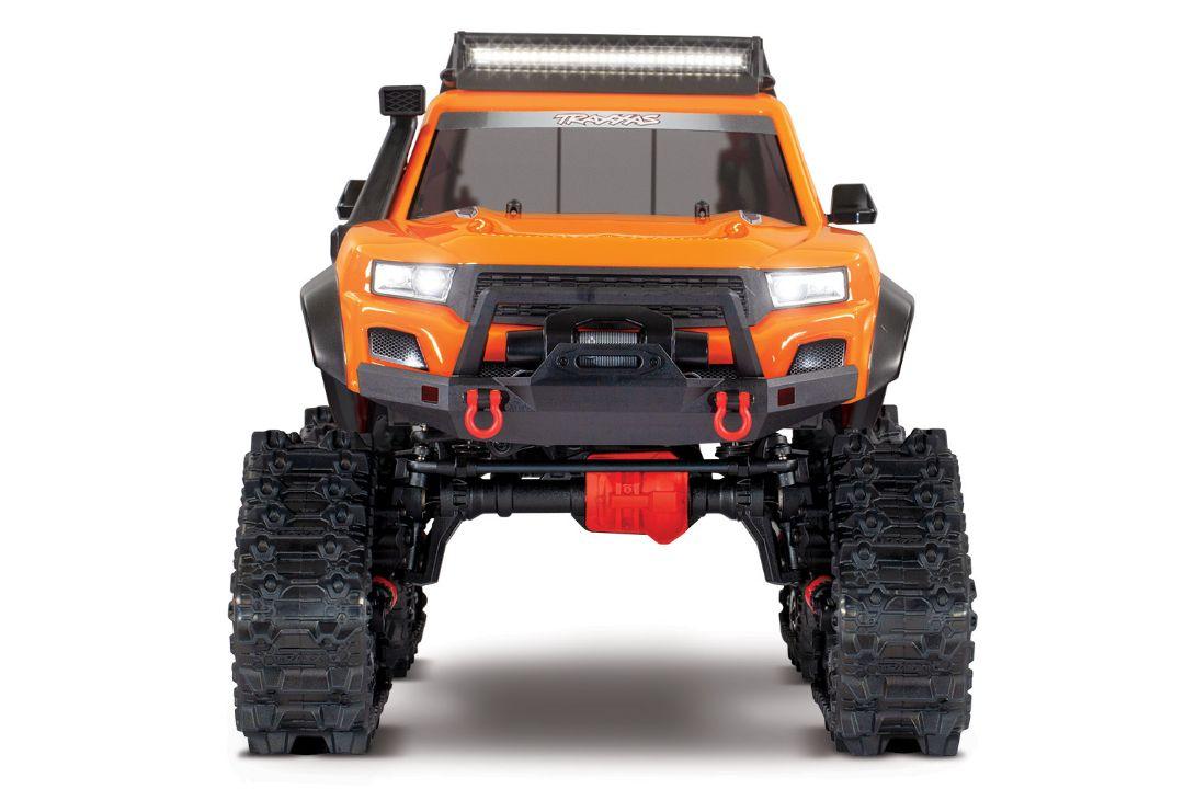 Traxxas TRX-4 with Traxx 1/10 4X4 Extreme-Terrain Truck - Orange - Click Image to Close