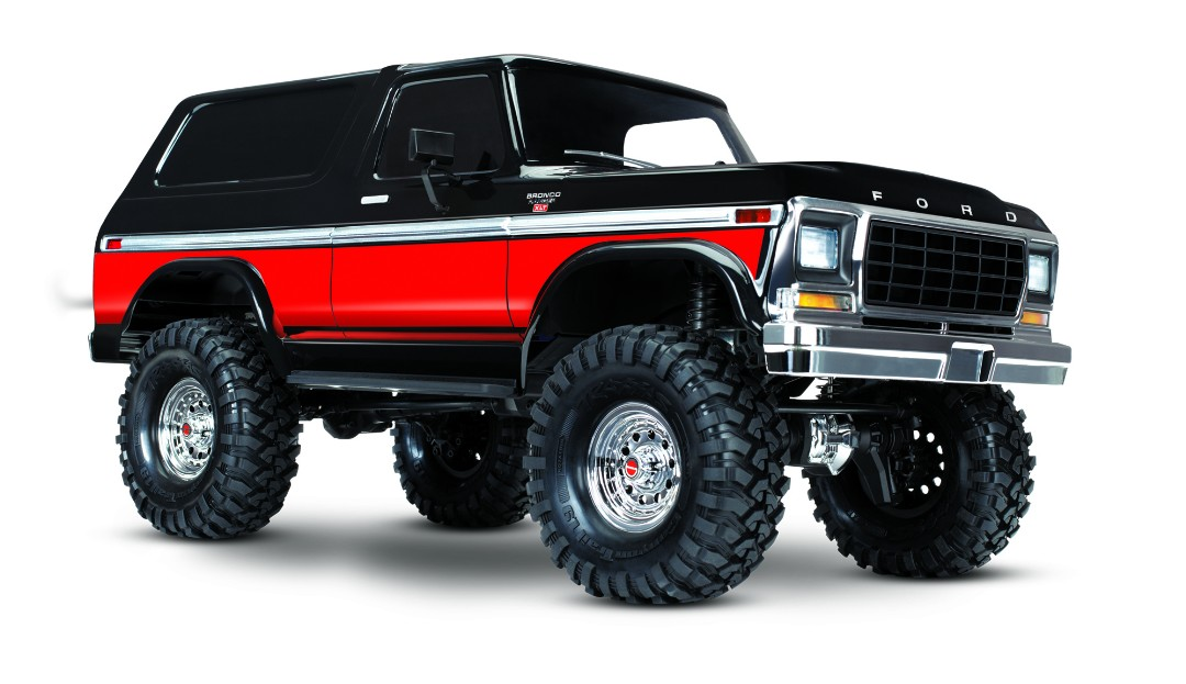 Traxxas TRX4 79 Ford Bronco 1/10 Crawler, XL-5 HV, Titan 12T Red - Click Image to Close