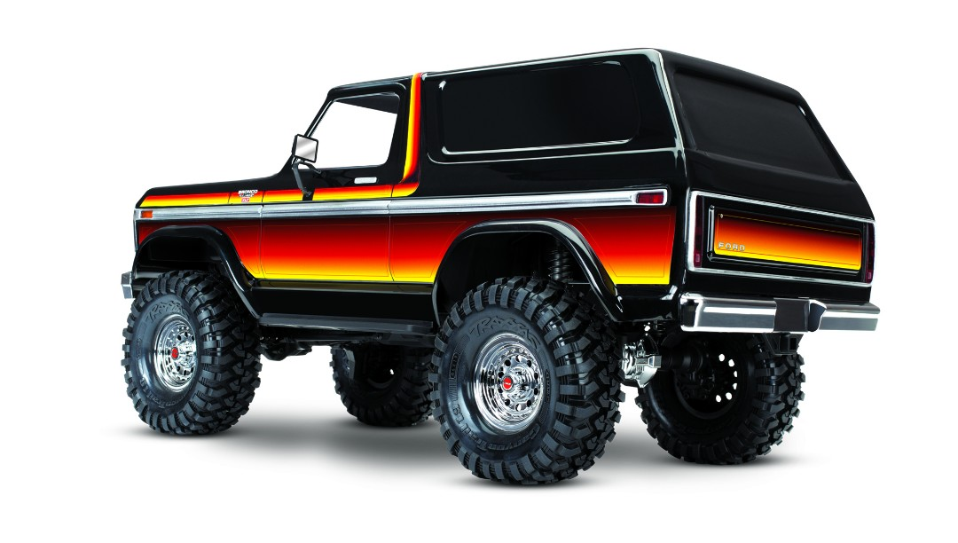 Traxxas TRX4 1979 Bronco 1/10 Crawler, XL-5 HV, Titan 12T Sunset - Click Image to Close