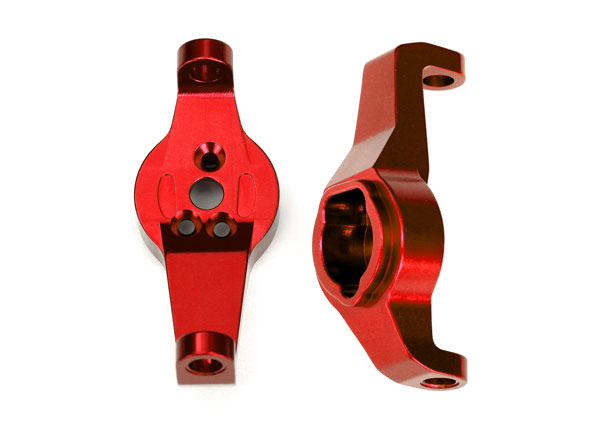 Traxxas Caster blocks, 6061-T6 aluminum (red-anodized), left an