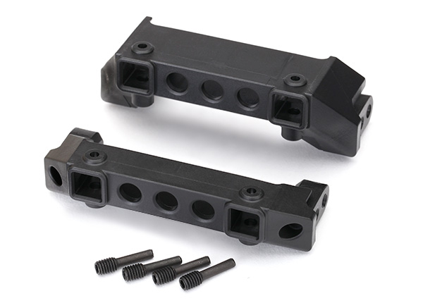 Traxxas Bumper mounts, front & rear/ screw pins (4)