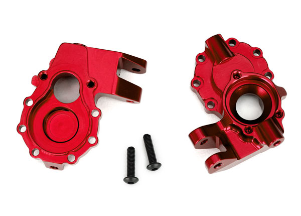 Traxxas Portal housings, inner (front), 6061-T6 aluminum (red-a