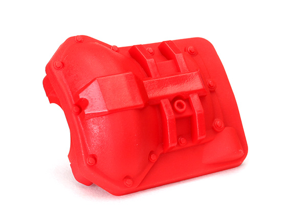 Traxxas Differential cover, front or rear (red)