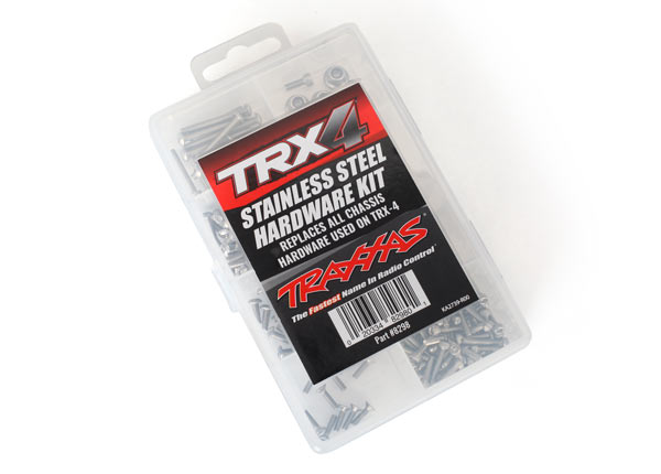 Traxxas Hardware kit, stainless steel, TRX-4 (contains all stain