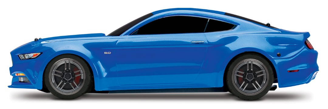 Traxxas Ford Mustang GT: 1/10 Scale AWD Supercar with TQ - Blue