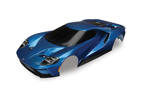 Body, Ford GT, blue (painted, decals applied)
