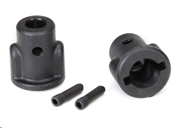 Traxxas Drive cups, inner (2)/ screw pins (2)
