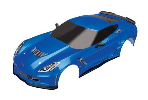 Traxxas Chevrolet Corvette ZO6 body, blue (painted, decals appli