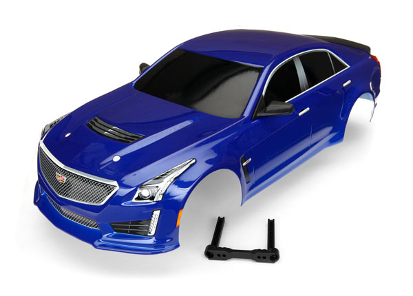 Traxxas Body, Cadillac CTS-V, blue (painted, decals applied)