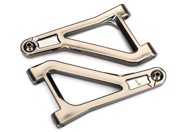Traxxas Suspension arms, upper (left & right) (satin black chrom