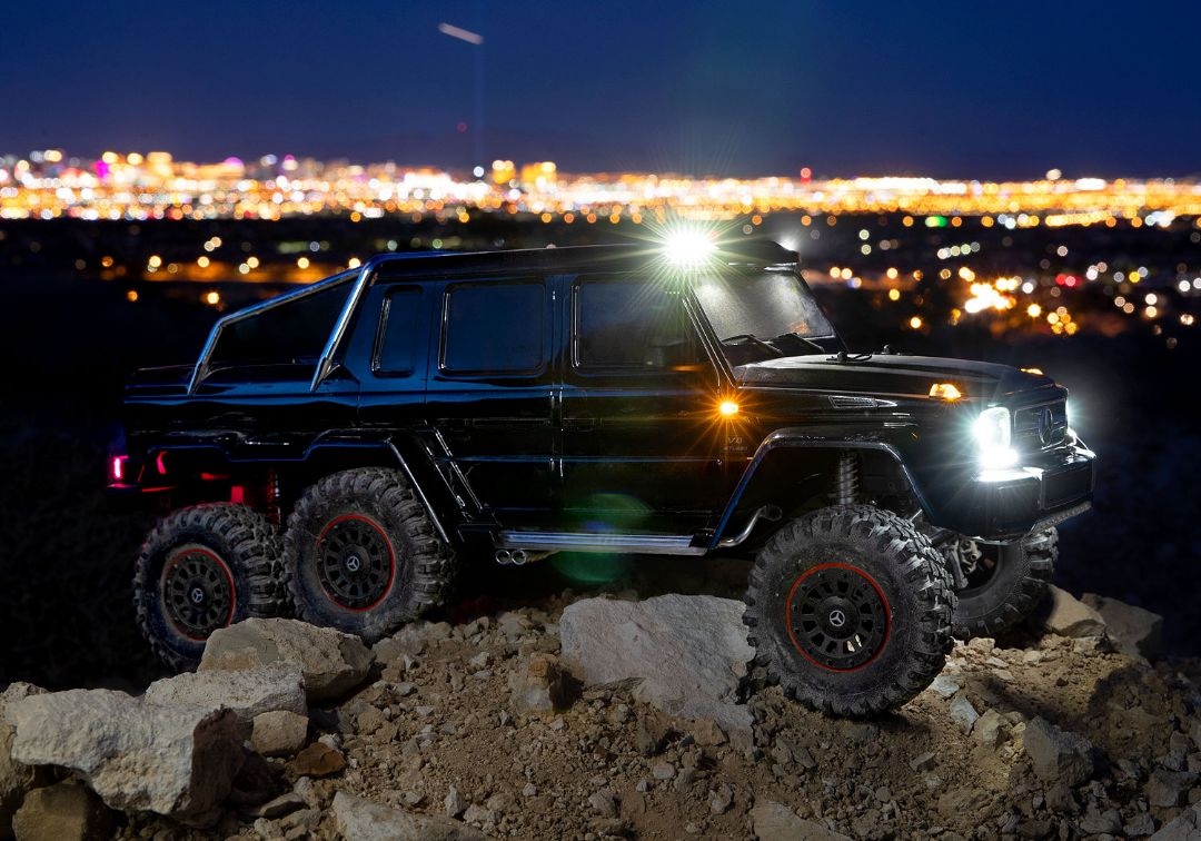 Traxxas Mercedes-Benz G 63 AMG TRX4 6x6 1/10 Crawler - Black - Click Image to Close