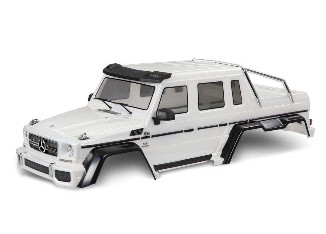 Traxxas Body, Mercedes-Benz G 63, complete (Pearl White)