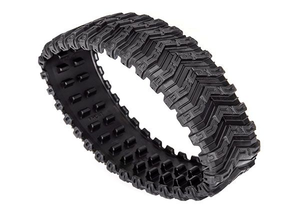 Traxxas Rubber track, All-Terrain, front (left or right) (rubber