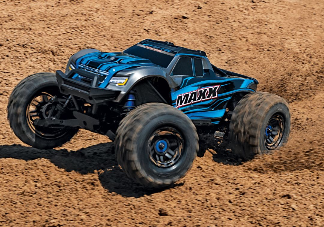 Traxxas Maxx with 4S ESC - Blue 1/10 Scale 4WD Brushless Electri - Click Image to Close