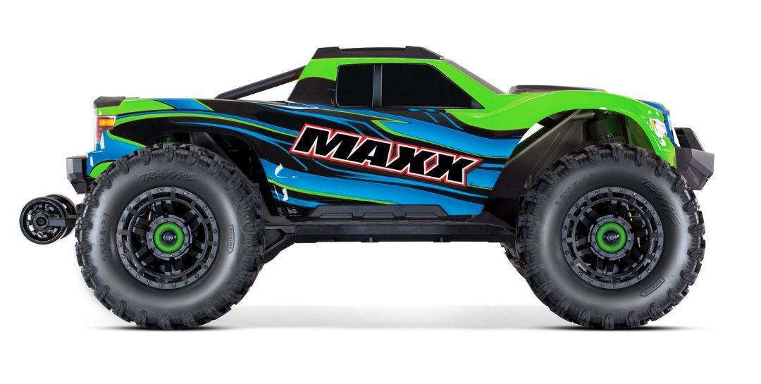 Traxxas Maxx with 4S ESC - Green 1/10 Scale 4WD Brushless Elect - Click Image to Close