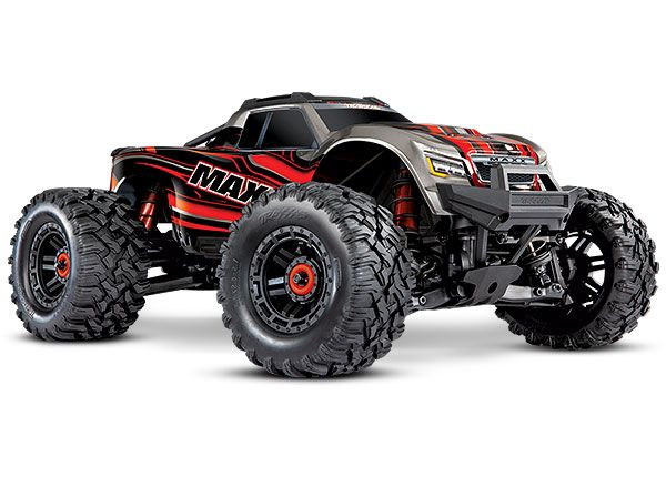 Traxxas Maxx with 4S ESC - Red 1/10 Scale 4WD Brushless Electri