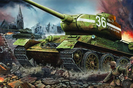 Trumpeter 1/16 T-34/85 model 1944 Fty.183